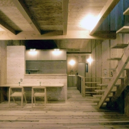 小石川植物園と向き合う家/Niさんの家 (リビング・ダイニング)