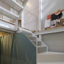 『』の家|鉄骨狭小スキップフロアのガレージハウス【大阪市】の写真 階段