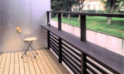 小石川植物園と向き合う家/Niさんの家 (バルコニー(1))