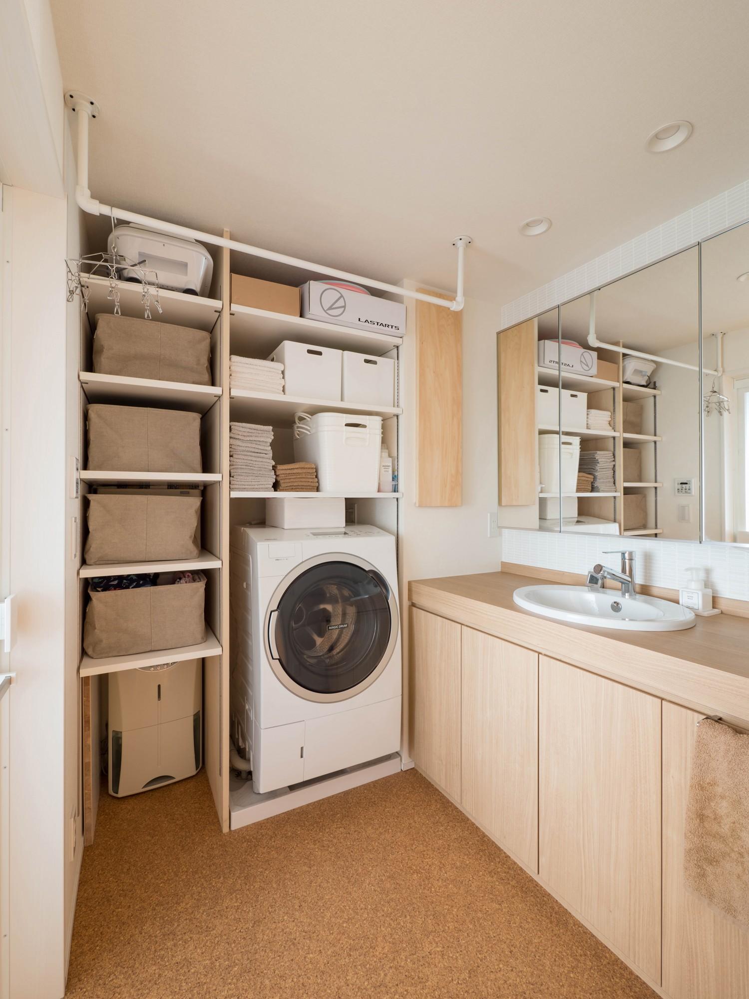 バス/トイレ事例:洗面脱衣室(羽田の家)