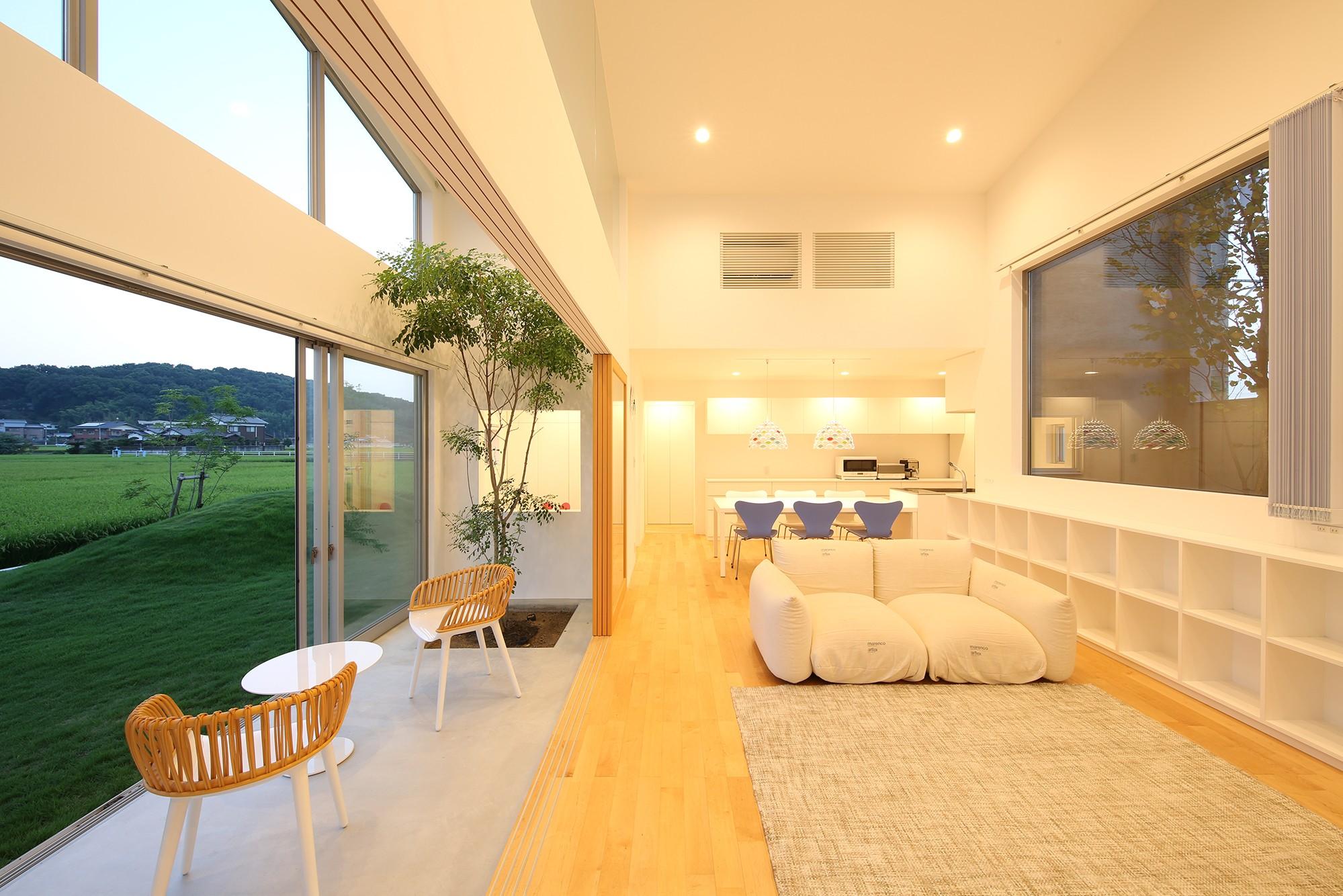 リビングダイニング事例:LDK06(House in Kawanabe ~緑と共に暮らす家~)