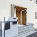 スキップフロアのある家~パッシブハウス~の写真 玄関(表札、ポスト、宅配ボックス)