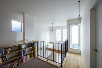 キッズコーナー(階段ホール) (スキップフロアのある家~パッシブハウス~)