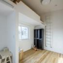 スキップフロアのある家~パッシブハウス~の写真 ロフト付子供部屋
