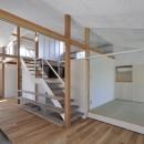 鴻巣の家の写真 リビングと和室とダイビング
