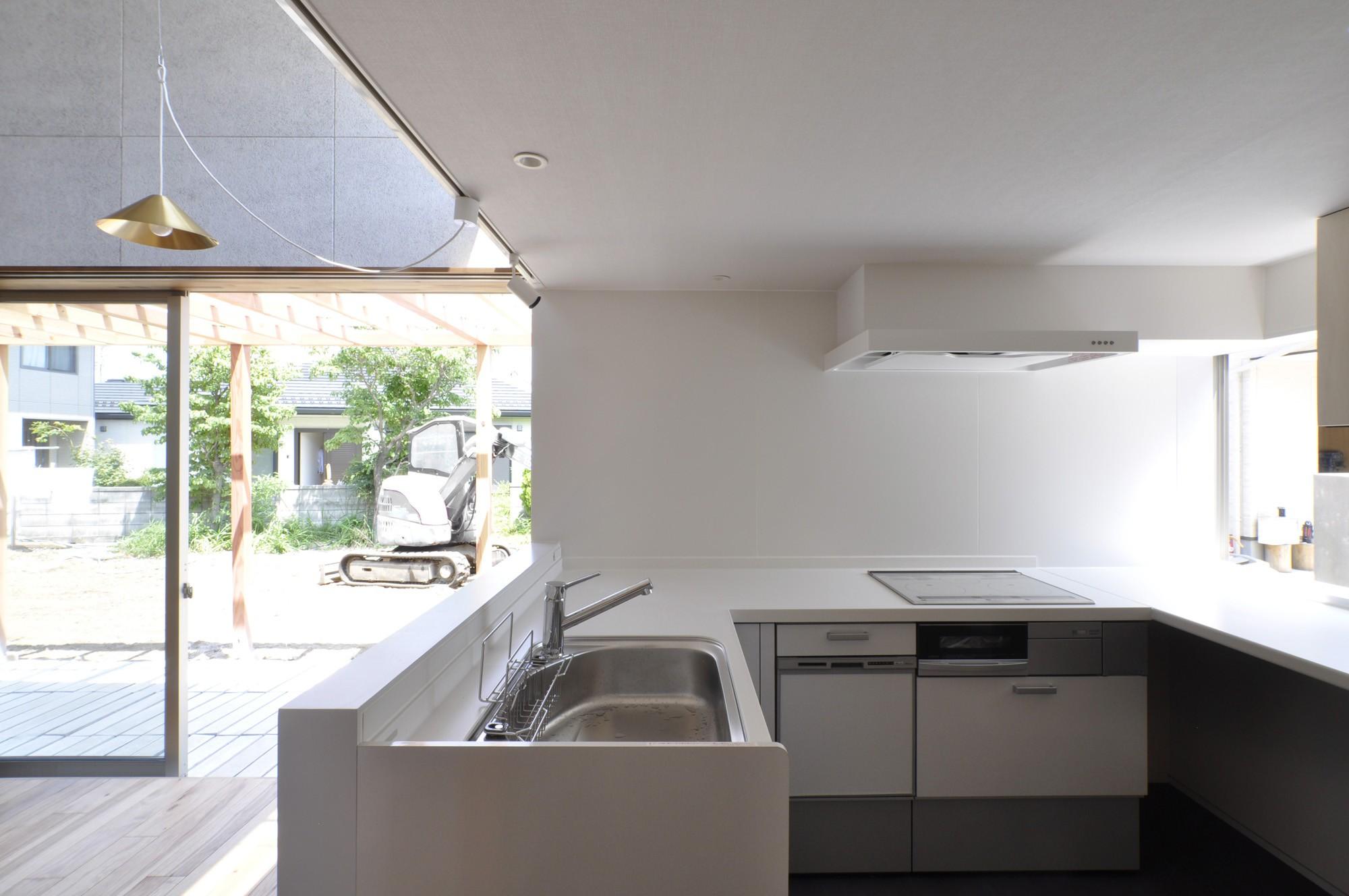 キッチン事例:キッチンとダイニング(鴻巣の家)