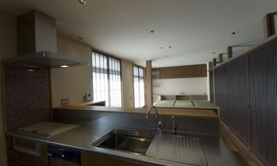 キッチン|古建具を利用した和モダンリノベーション/想蔵