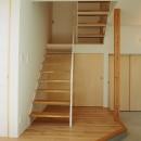 大屋根の家の写真 階段