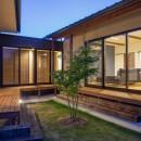 須賀川・今泉のリノベーションの写真 中庭(夜景)