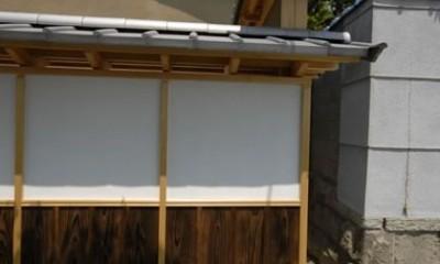 外観|最低限の工事で全体のイメージを変えた和風リノベーション/坂塀