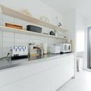 やさしい色が心地良いスカンジナビアスタイルの写真 キッチン