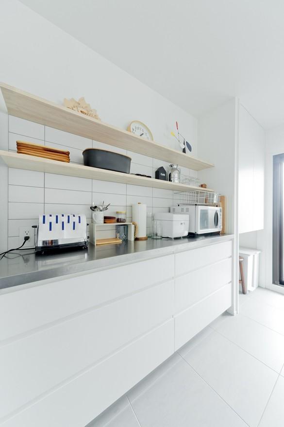キッチン事例:キッチン(やさしい色が心地良いスカンジナビアスタイル)