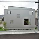 二重の壁をもつプライベートを確保した家(唐崎の家)の写真 外観