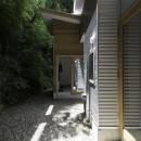 木立の中の家の写真 庭
