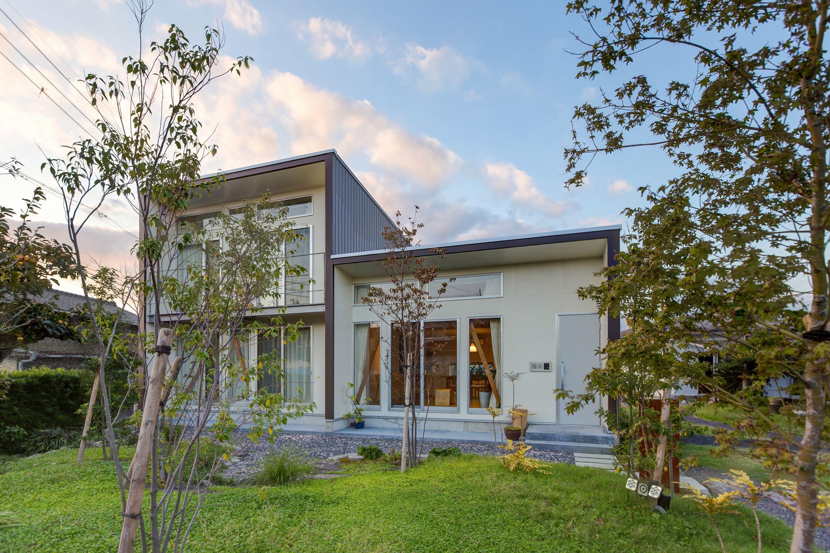 外観事例:南側外観(3-BOX 1800万円の家)