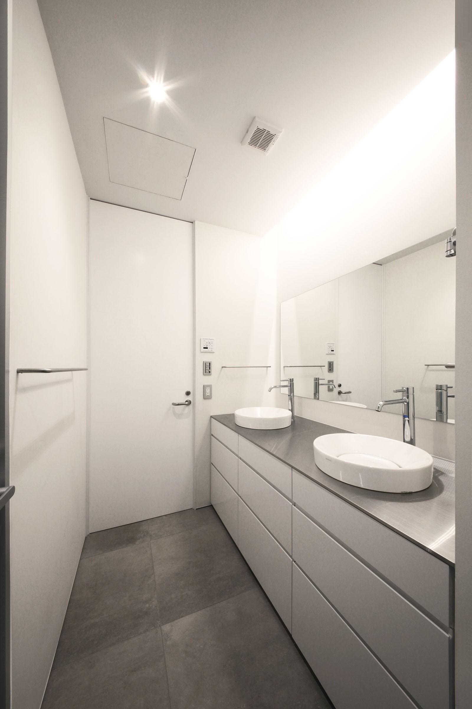 バス/トイレ事例:化粧室(HMR [テラスの家])