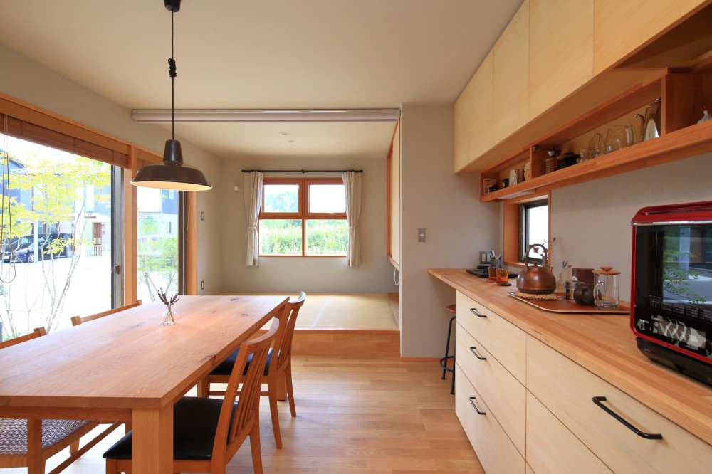 暮らしを楽しむ家 (ダイニングキッチン)