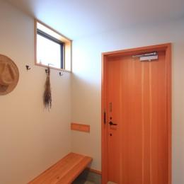 暮らしを楽しむ家 (玄関)