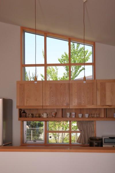 自然体で暮らす平屋 (キッチン)