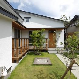 自然体で暮らす平屋~光・風・緑を取り込む家~ (外観)