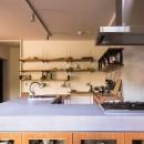 Madagasucar~大空間で贅沢アレコレ。鉄筋コンクリート造の戸建てリノベ~の写真 モールテックス(キッチン)