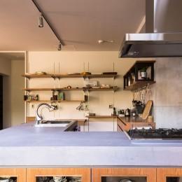 モールテックス(キッチン) (Madagasucar~大空間で贅沢アレコレ。鉄筋コンクリート造の戸建てリノベ~)
