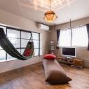 Madagasucar~大空間で贅沢アレコレ。鉄筋コンクリート造の戸建てリノベ~の写真 趣味部屋&ハンモック