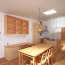 心地よい居場所のある家の写真 ダイニングキッチン
