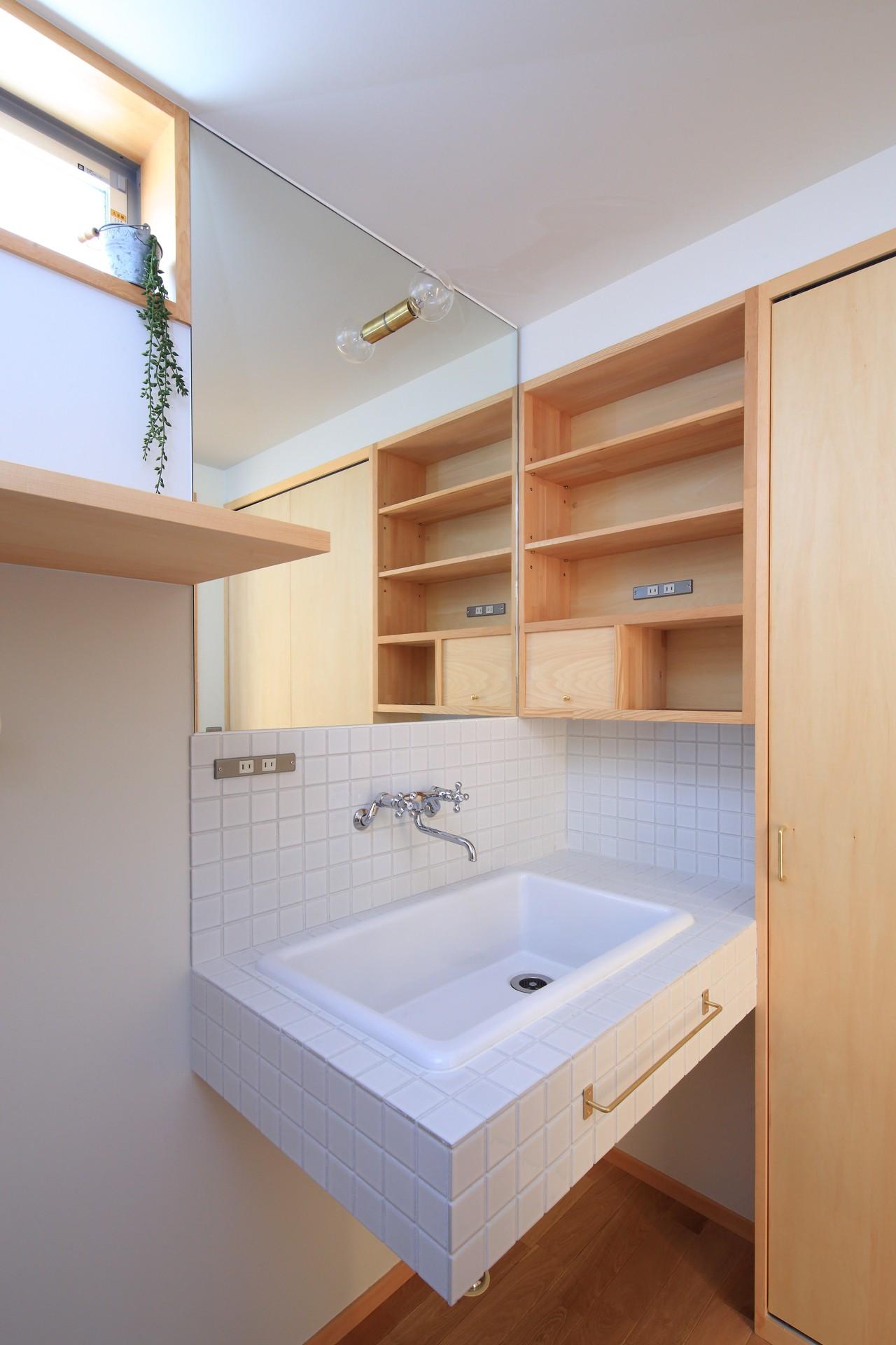 バス/トイレ事例:ユーティリティー(心地よい居場所のある家)