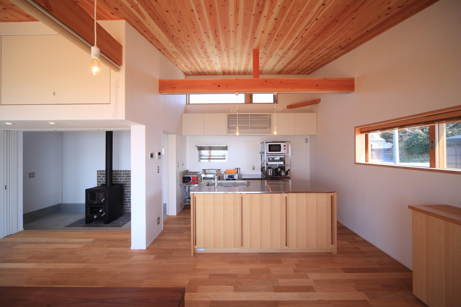 キッチン事例:キッチン(海の見える家)