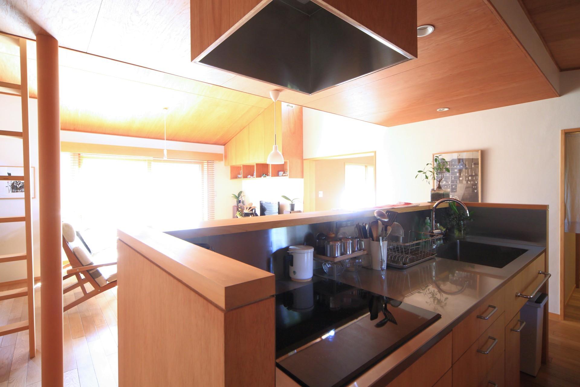 キッチン事例:キッチン(雑木林の小さな家)