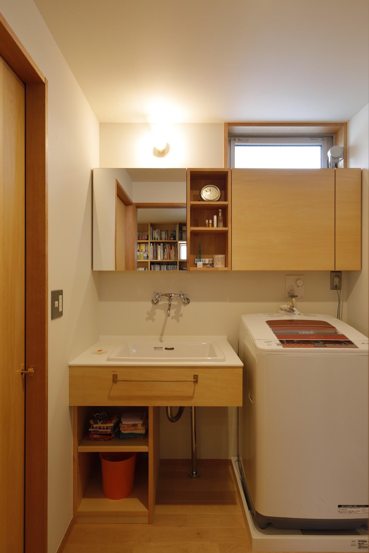 バス/トイレ事例:洗面所(ゆるやかに暮らす家)