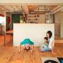 AME TO MUCHI~「あそび」と「まなび」が隣り合う、子供との毎日が楽しい住まい。~の写真 リビングダイニング