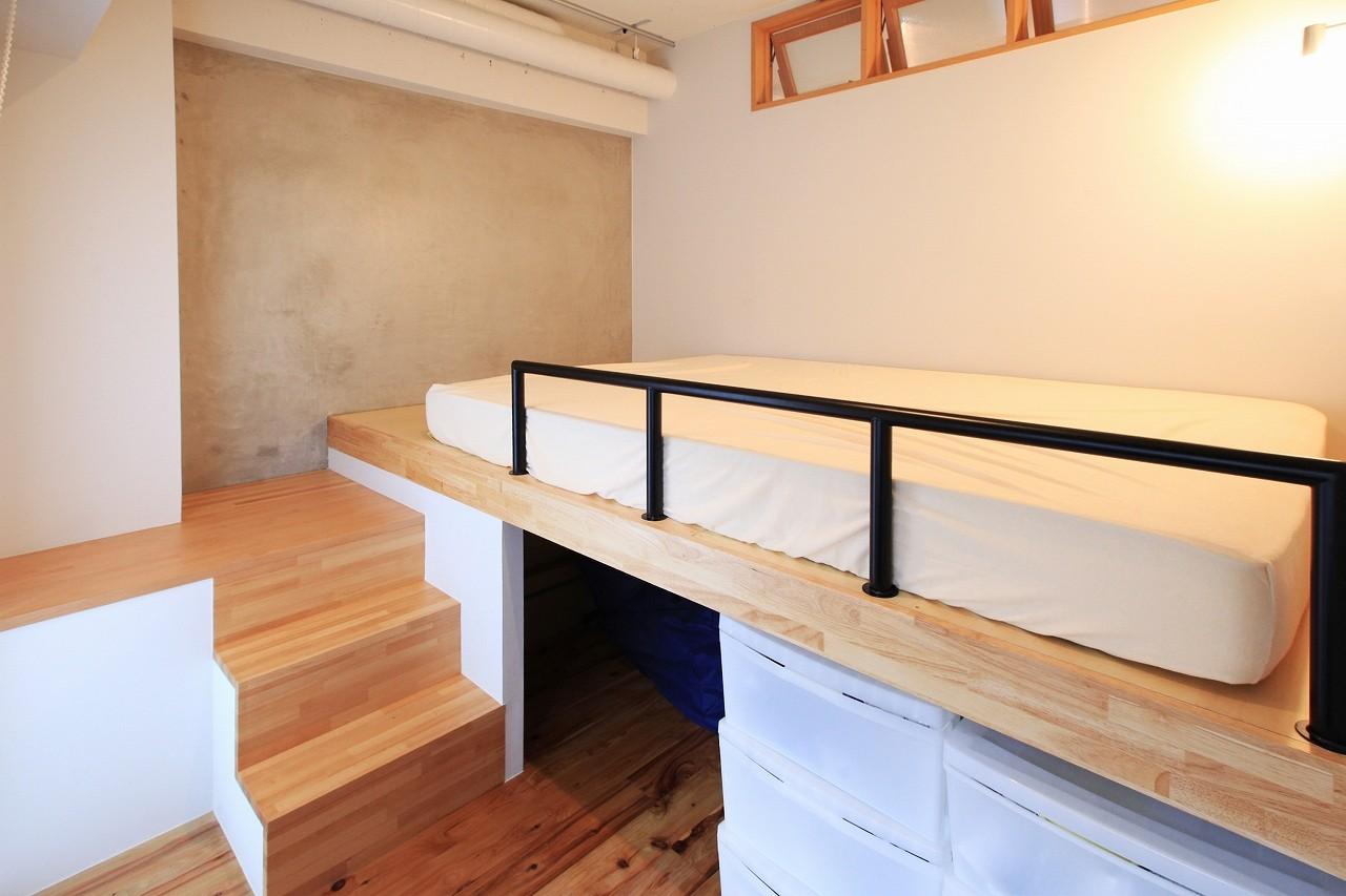 ベッドルーム事例:寝室(AME TO MUCHI~「あそび」と「まなび」が隣り合う、子供との毎日が楽しい住まい。~)