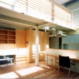 鉄と杉/Kaさんの家 (2階リビング・ダイニング)