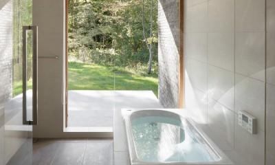058軽井沢Hさんの家 (浴室)