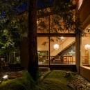 奈良の住宅の写真 中庭