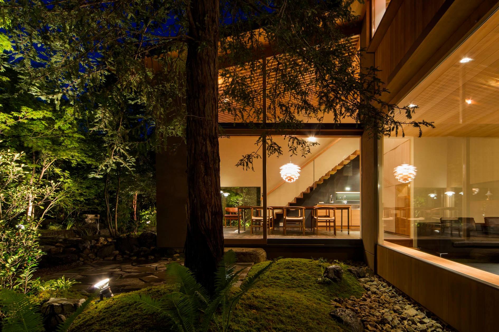 アウトドア事例:中庭(奈良の住宅)