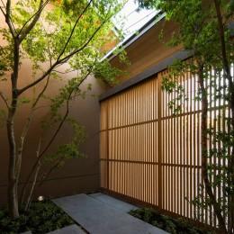 奈良の住宅 (アプローチ)