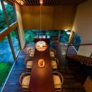 奈良の住宅の写真 ダイニング吹き抜け