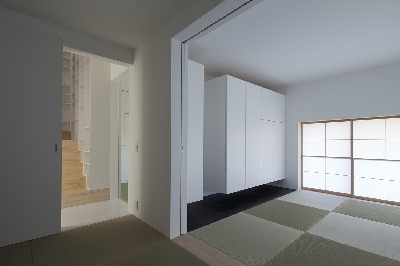 ベッドルーム事例:寝室(岡本の住宅)
