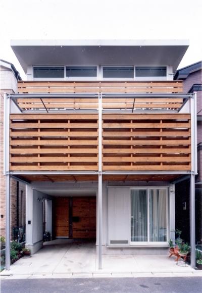 鉄と杉/Kaさんの家 (南面外観)