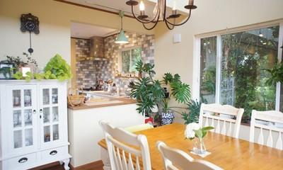 四季を感じ暮らしを楽しむ家 (ダイニングキッチン)