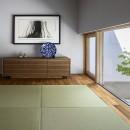 浜松H邸 -庭とリビングが一体化する平屋の邸宅-の写真 前室と地窓先のモミジ
