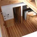 大阪府東大阪市O様 新築施工事例の写真 二階からもキッチンを見わたせる