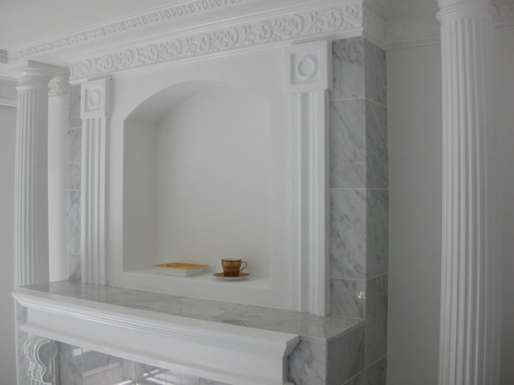 大阪市中央区マンション 内装リフォーム事例 (大理石の暖炉調の内装)