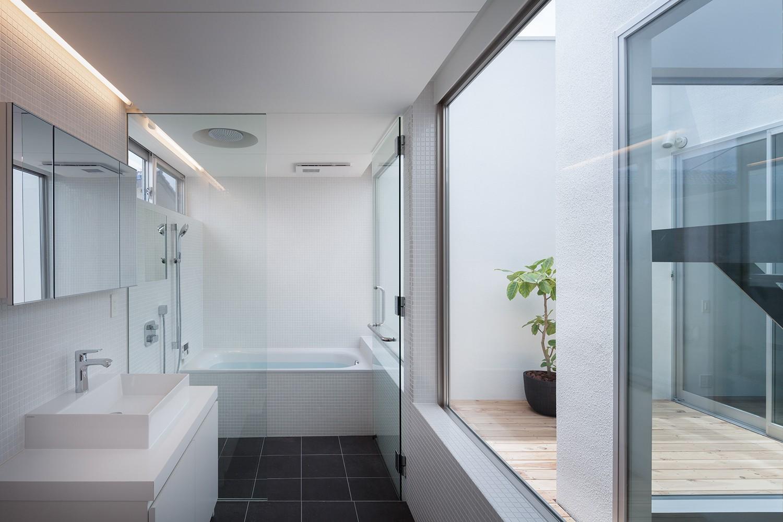 バス/トイレ事例:洗面脱衣室,浴室(南烏山の住宅)