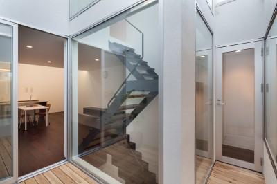 2階テラス (南烏山の住宅)