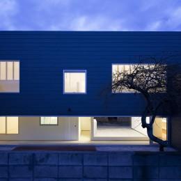 川口の住宅 (外観(庭側))