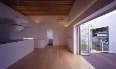 市川の住宅 (2階LDKスペース)